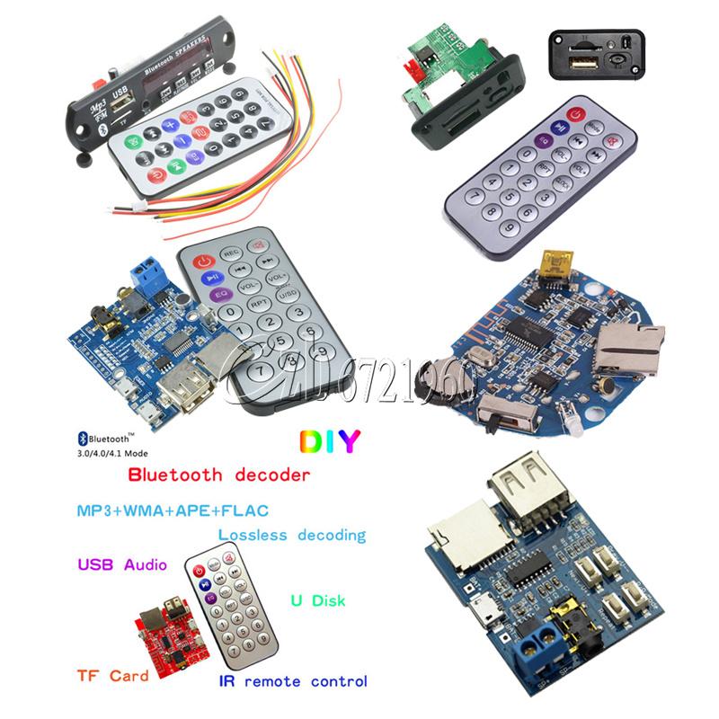 MP3 Decoder Board USB//TF// Reader IR Remote Bluetooth//FM Car Audio Board Module