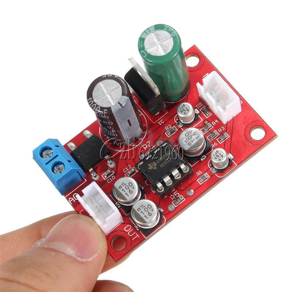 Diy Ne5532 Dynamic Microphone Stereo Preamp Amplifier Board Dc9 24v Mic Preamplifier Ac8 16v