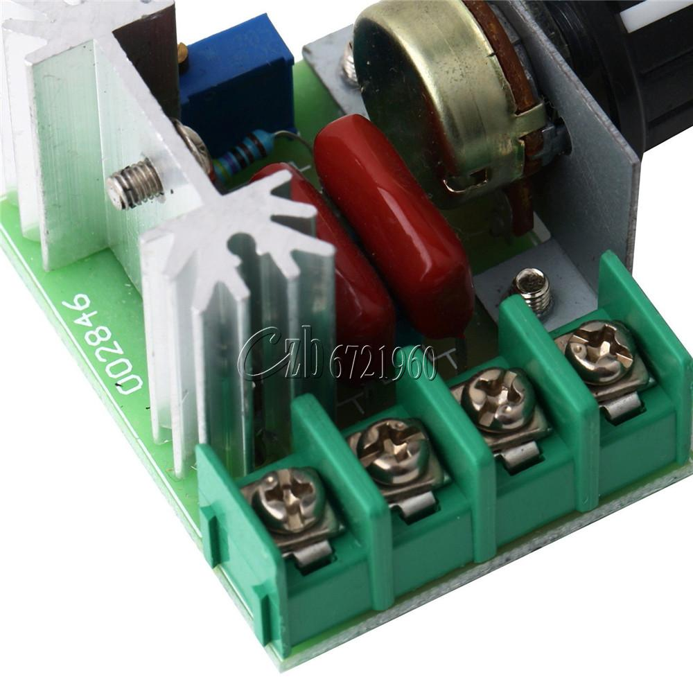 2000w 220v ac scr electric voltage regulator motor speed for Electric motor speed control