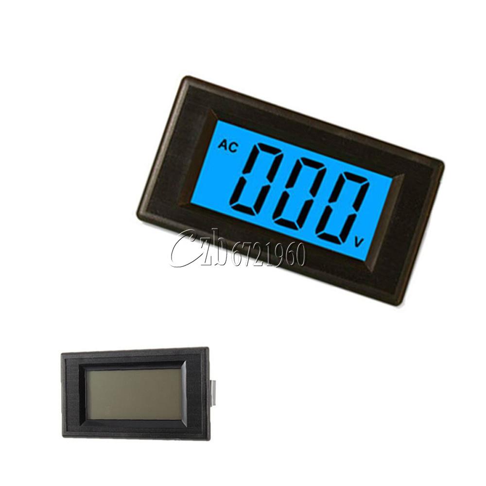 Digital Panel Voltmeter : Wire blue digital voltmeter panel ac v lcd