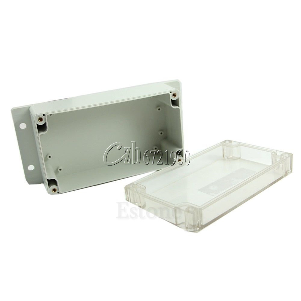 Waterproof clear plastic electronic project box enclosure