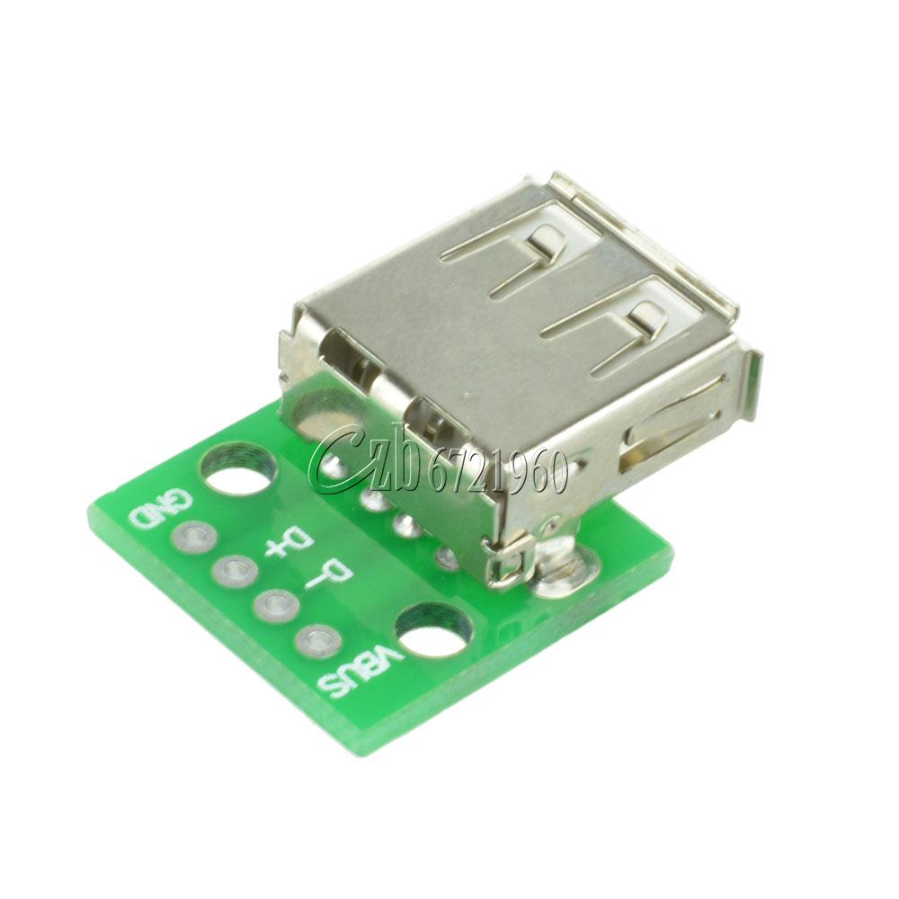 Usb female port connector breakout board v power mm