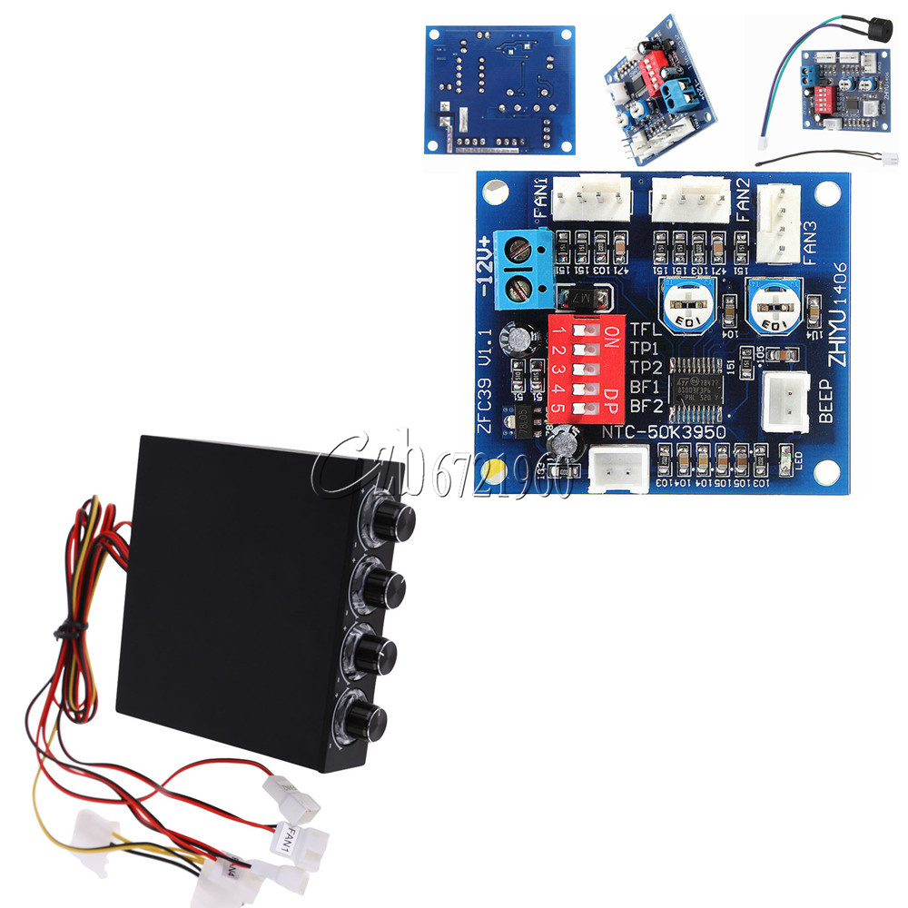 4 Channel 35 Pc 12v Pwm Cpu Fan Temperature Control Speed Controlled Regulator Electronic Circuits And Controller