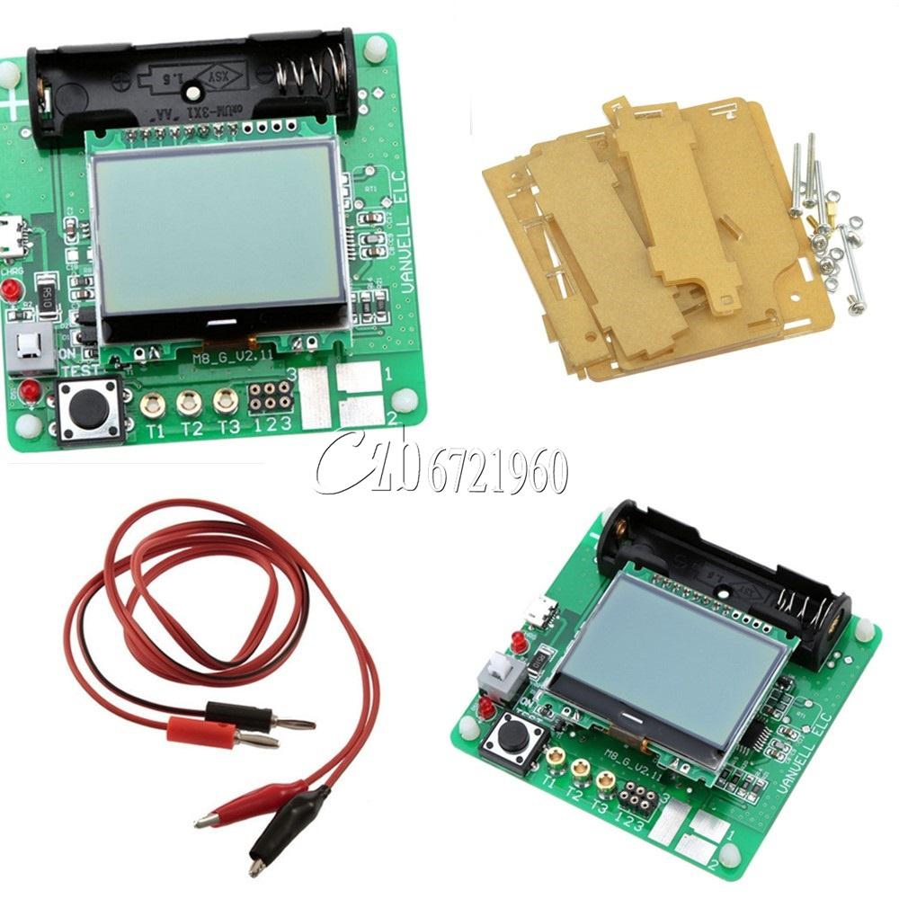transistor inductor capacitor esr meter mg328 digital lcd tester rh ebay com