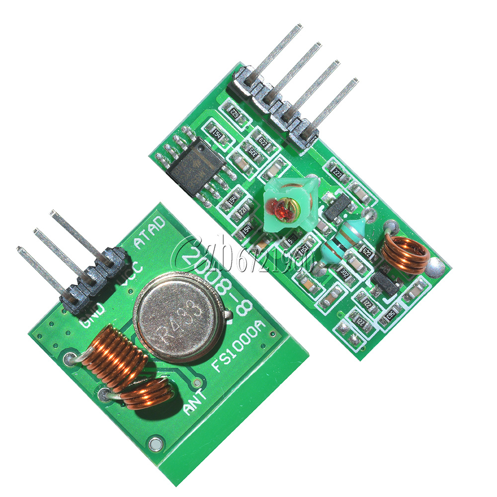 Pcs mhz rf transmitter and receiver link kit for