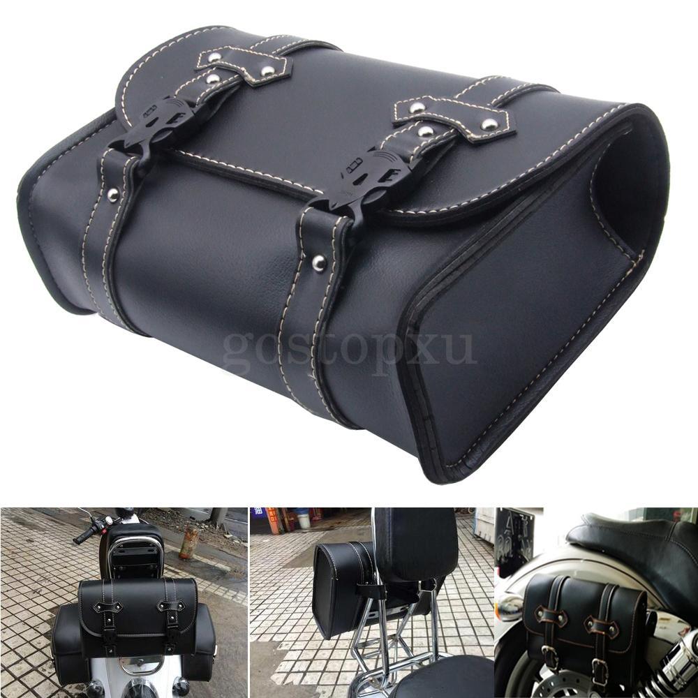 Motorcycle Pu Leather Saddle Bags Saddlebags Side Storage