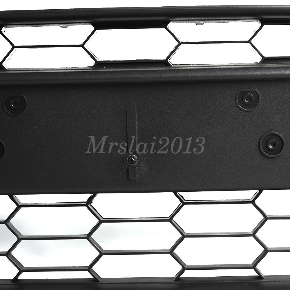 Mk7 Passenger Air Bag Light Badgeskin Overlay: Black Front Bumper Grill Grille Center Fits For Ford