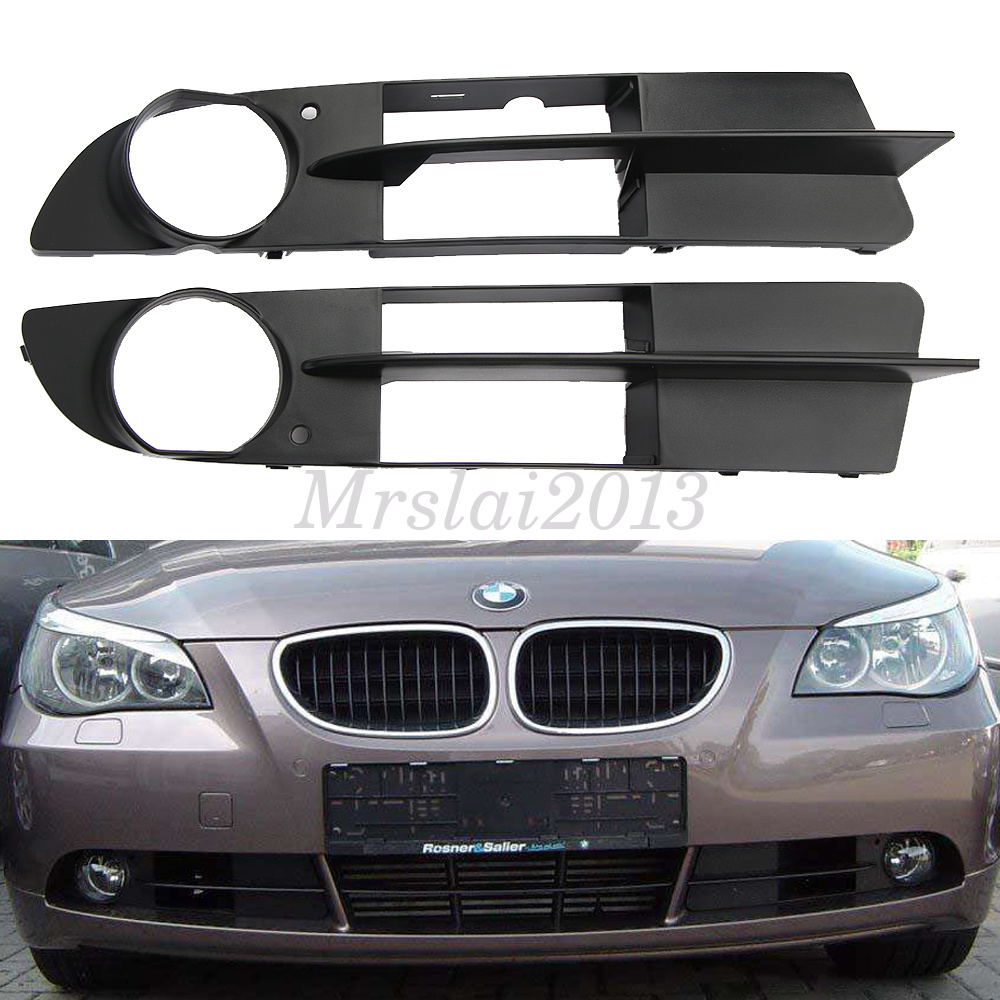 2007 Bmw 530 Xi: 2x Front Bumper Fog Lamp Grill For For BMW E60 E61 5