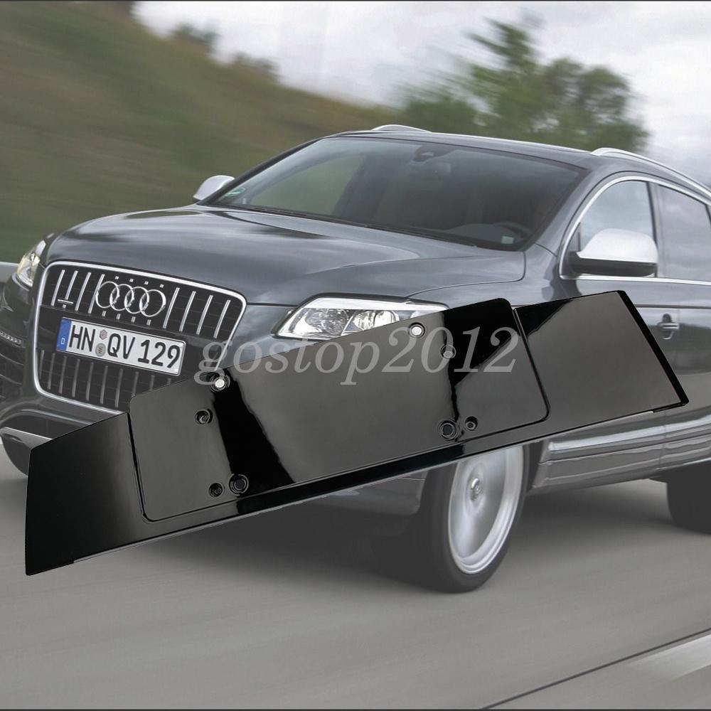 For Audi Q7 06-13 Gloss Black License Number Plate Holder