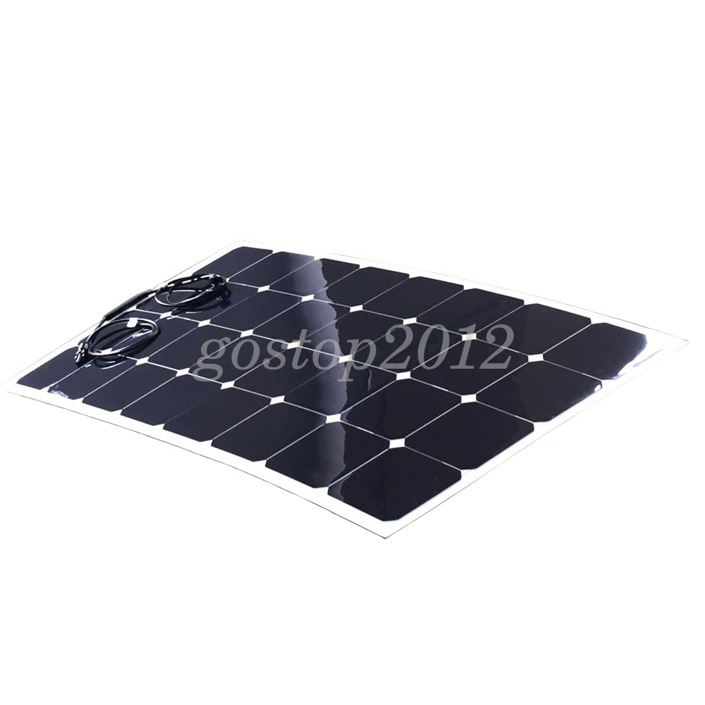 100w 12v Outdoor Flexible Mono Solar Panel Charge 10a 12