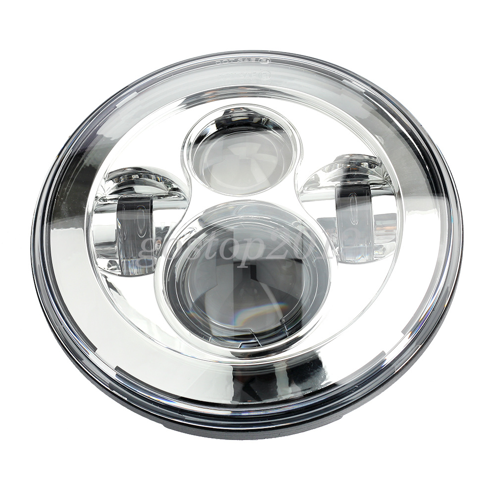 7inch 45w Chrome Round 4 LED Projector Headlights For Jeep Wrangler JK/TJ/LJ/CJ