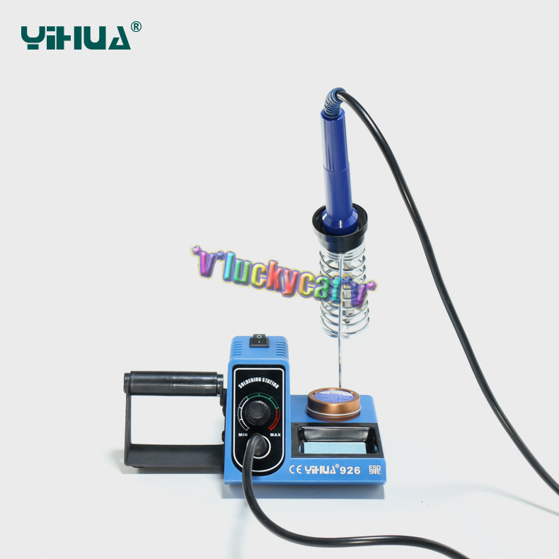 110v plug 60w yihua soldering welding iron station tip cleaner paste holder. Black Bedroom Furniture Sets. Home Design Ideas