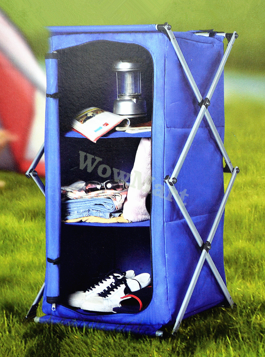New Instant Pop Up Collapsible Camping Storage Cupboard