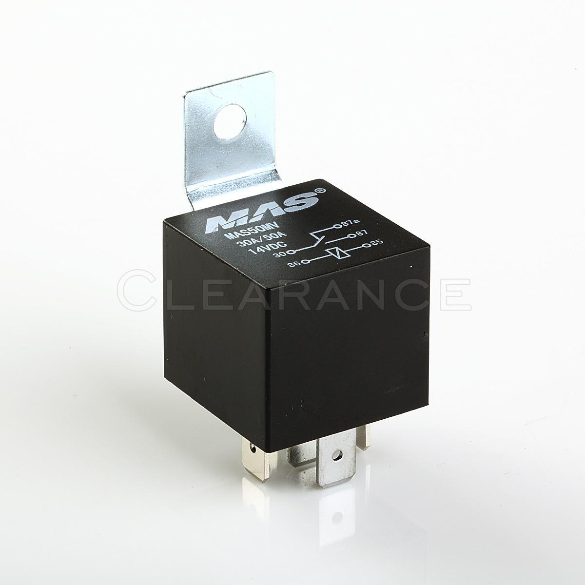 12v 30  50amp Dc5pin Automotive Power Relay Metal Mount