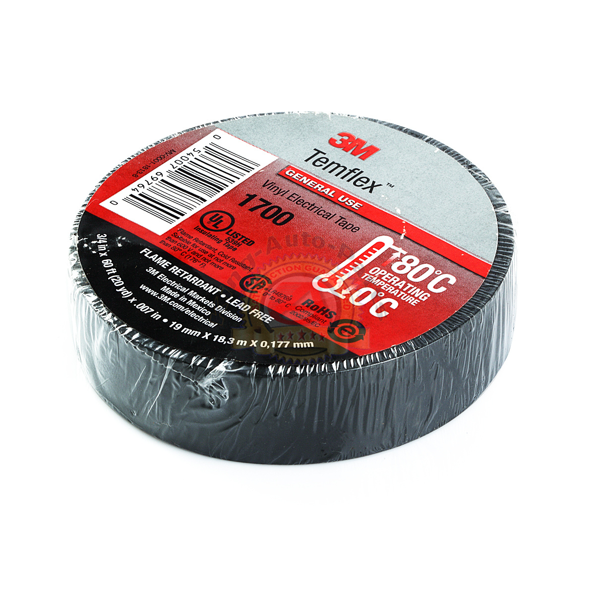 3m Black Electrical Tape Temflex 1700 1776 3 4 Quot X 60 Ft 10
