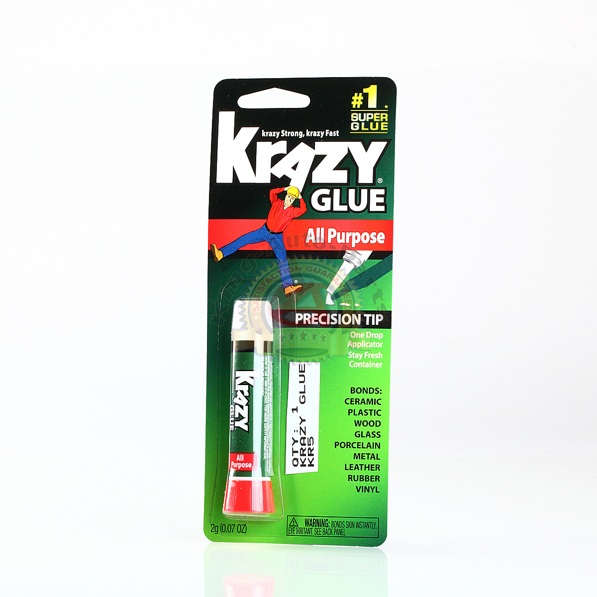 original krazy glue crazy super glue all purpose instant repair free shipping ebay. Black Bedroom Furniture Sets. Home Design Ideas