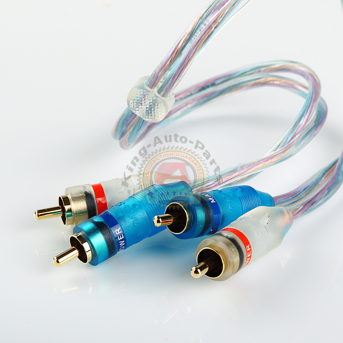 1.5ft Gold Plated 1.5\' RCA Blue Wire No Noise Video 2 Male To Male ...