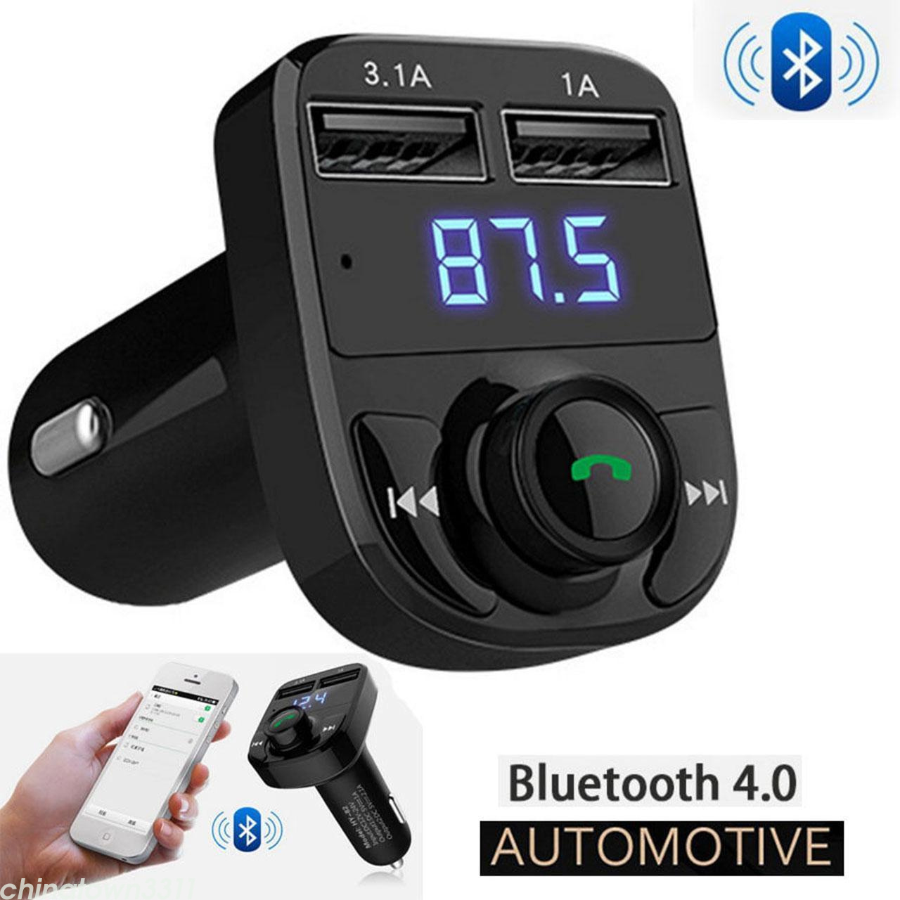 car bluetooth kit fm transmitter wireless radio adapter. Black Bedroom Furniture Sets. Home Design Ideas