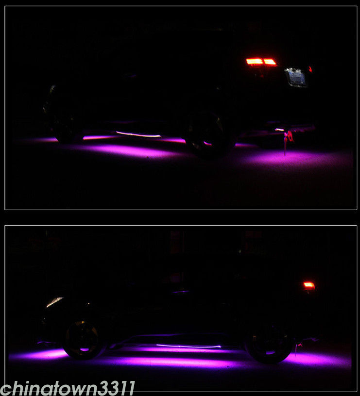 Details about RGB 8 Colors LED Strips Under Car Underglow Underbody Music  Control Neon Lights