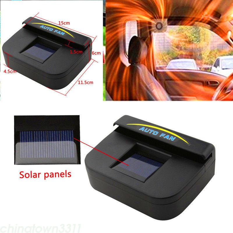 Solar Power Car Vehicle Window Air Vent Cooler Ventilation System Exhaust Fan Ebay