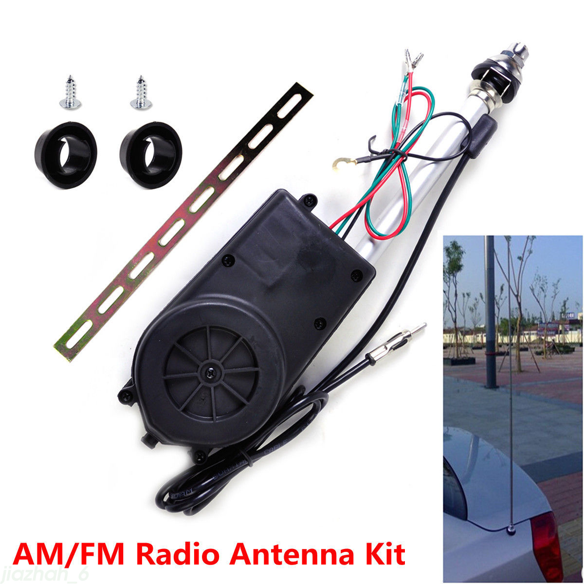 Radio Shack Electric Motor Kit: 12V Antenna AM FM Radio Mast Replacement Kit OEM Car