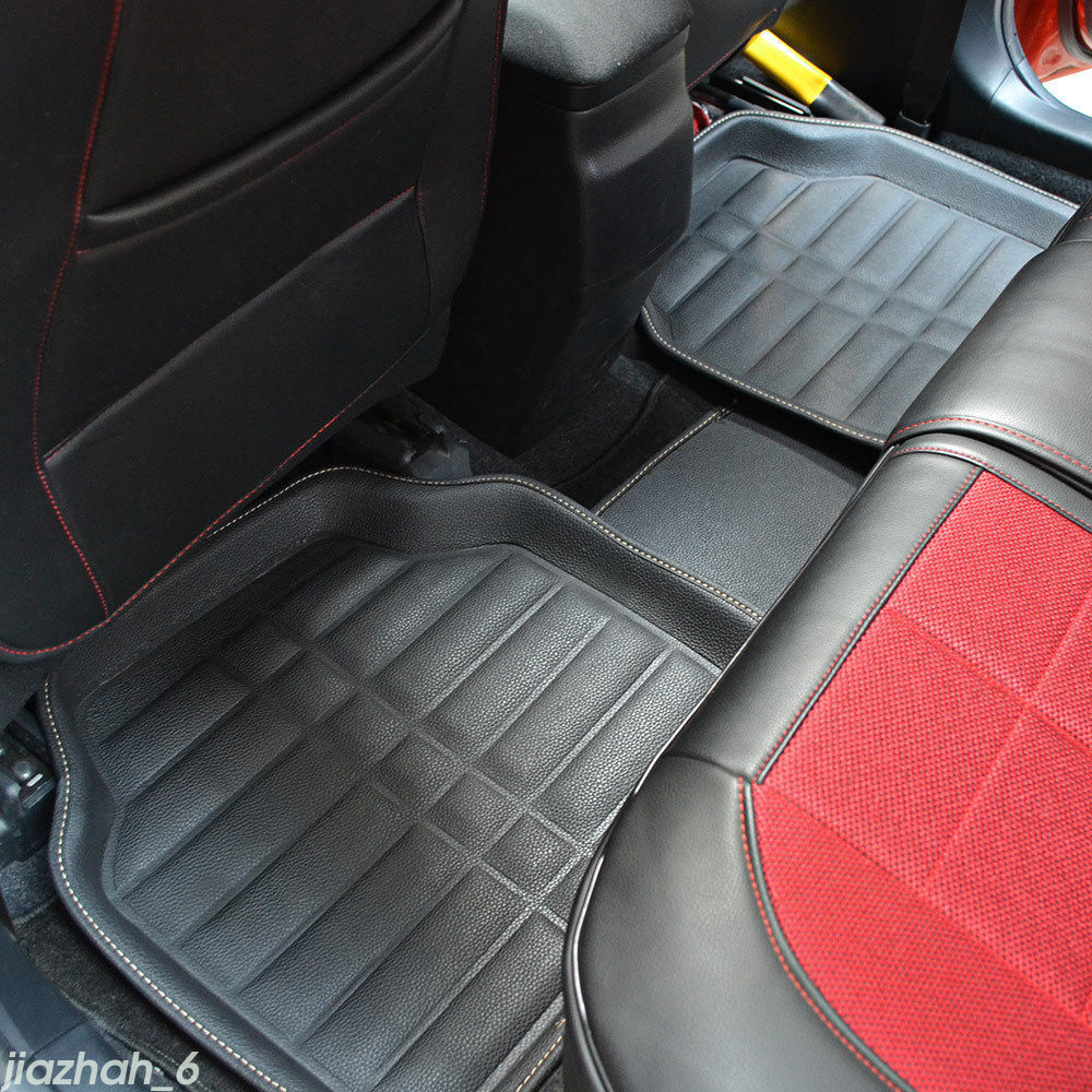 5pcs universal car floor mats floorliner front rear carpet mat for all weather ebay. Black Bedroom Furniture Sets. Home Design Ideas