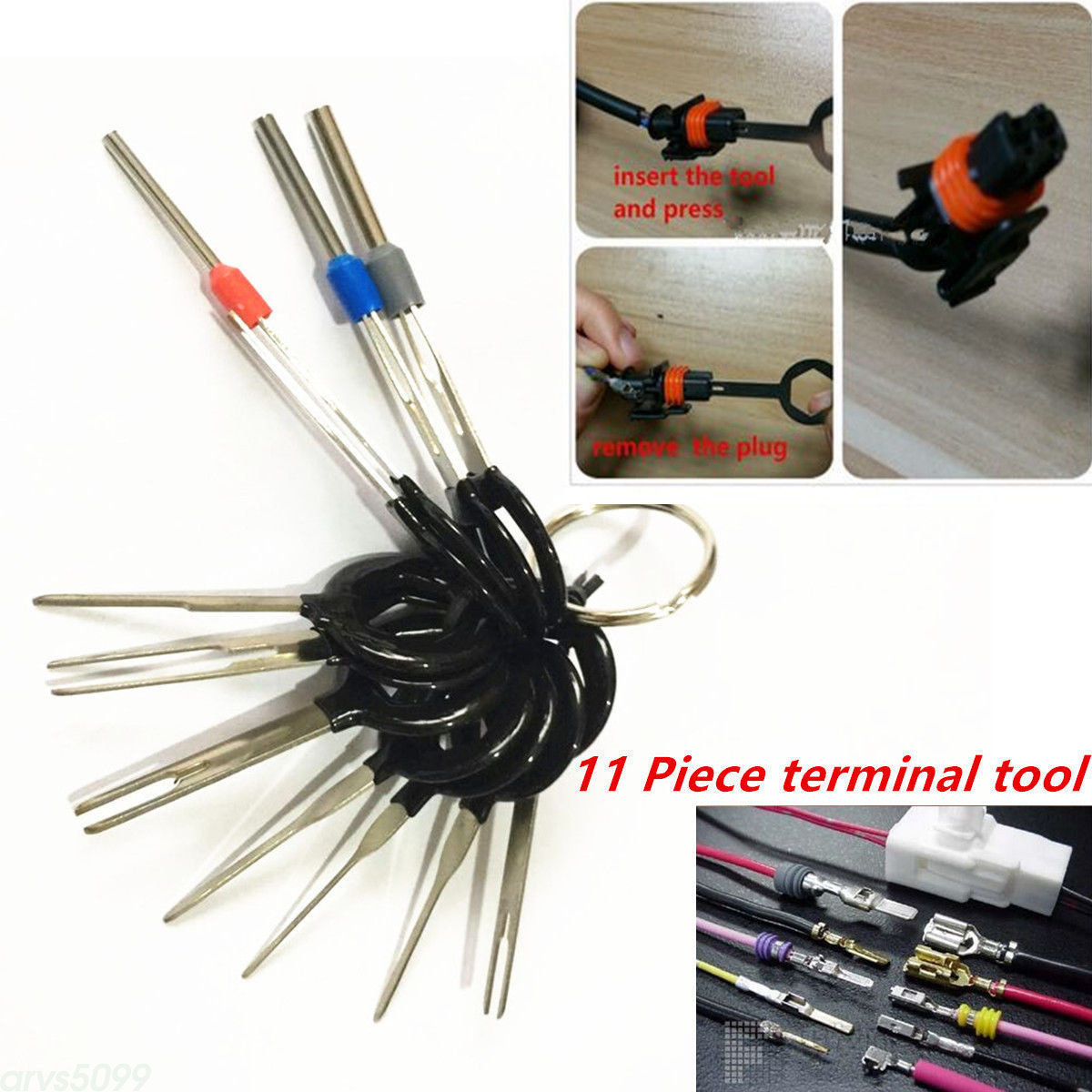 Car Plug Circuit Board Wire Harness Terminal Pick Connector Crimp Pin Tools  11pc