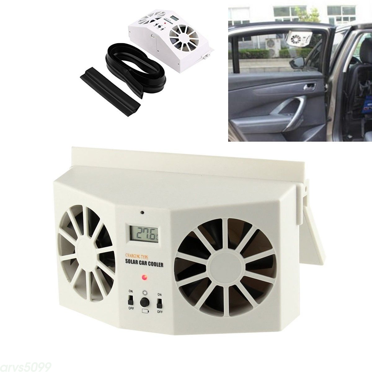 Solar Powered Auto Car Window Air Vent Ventilator Mini Air