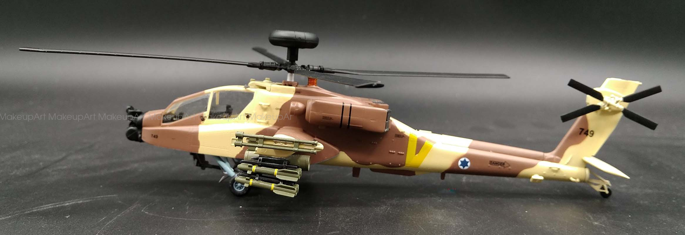 AH-64 Apache longbow Israel attack helicopter 1/72 diecast ...