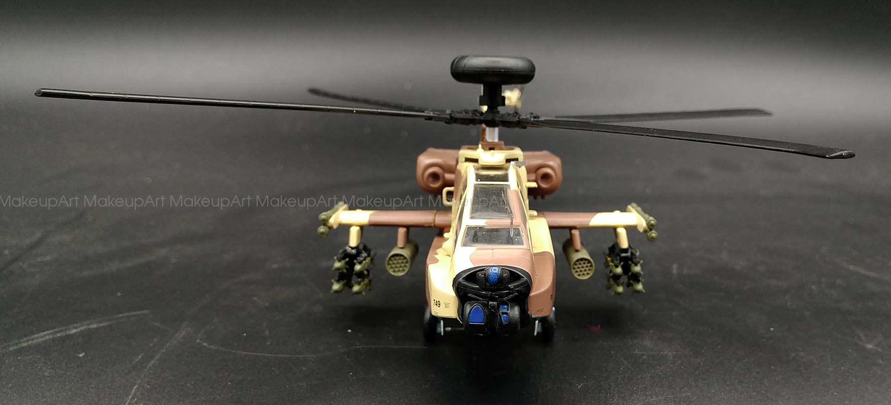 AH-64 Apache longbow Israel attack helicopter 1/72 ...