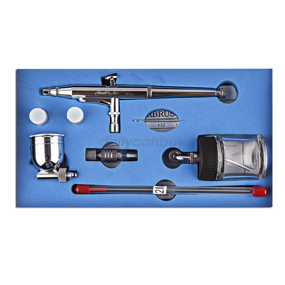 action 3 airbrush air compressor kit craft cake paint art spray gun. Black Bedroom Furniture Sets. Home Design Ideas
