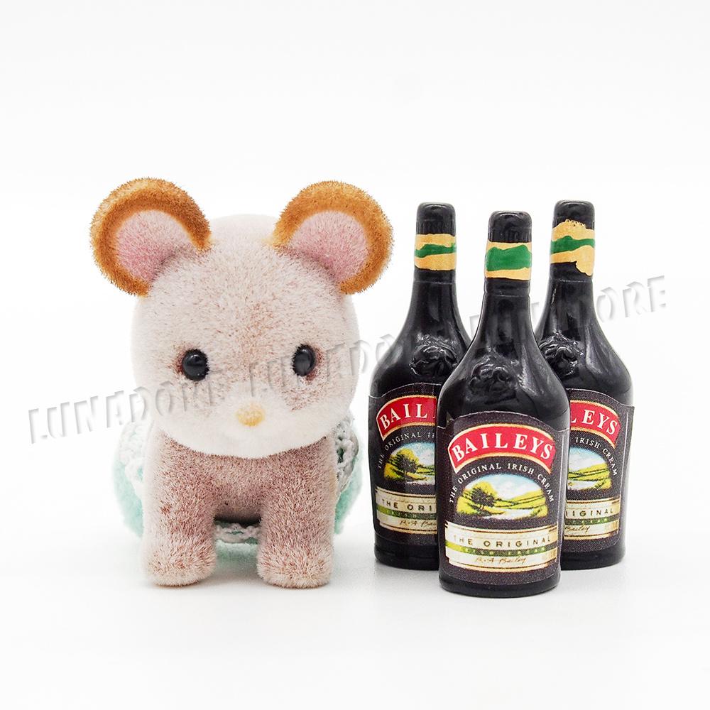3pcs sweet wine bottle 1 12 dollhouse miniature bar drink for Decor drink bottle