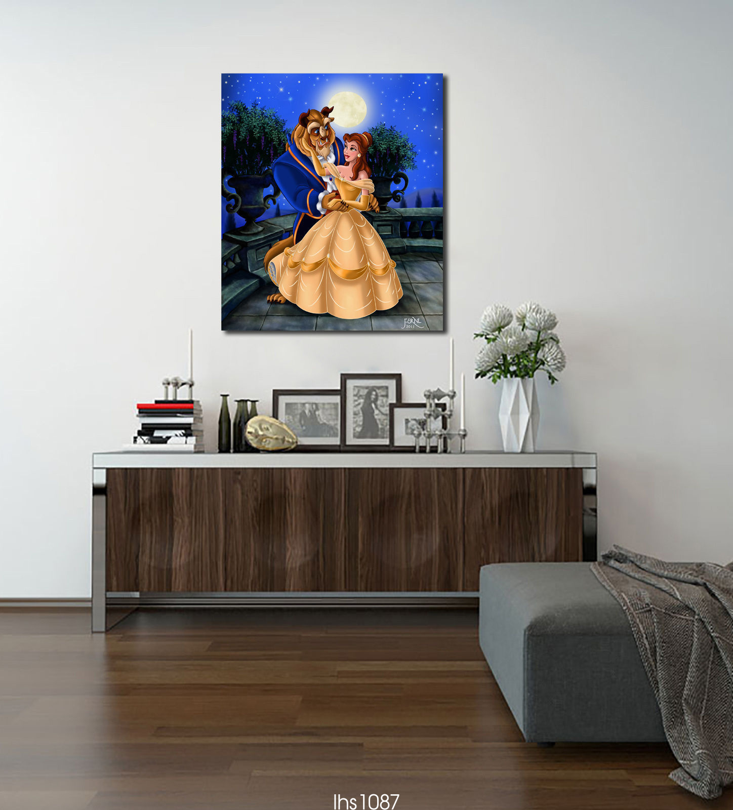 HD-Print-on-Canvas-Painting-Home-Decoration-Wall-Art-Beauty-and-the-beast75x85cm