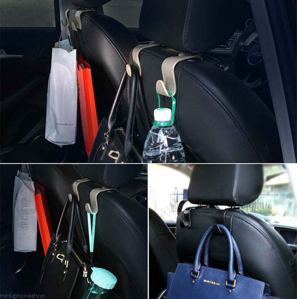 hooks headrest holder car seat back hanger 2 pack durable bag coat organizer ebay. Black Bedroom Furniture Sets. Home Design Ideas