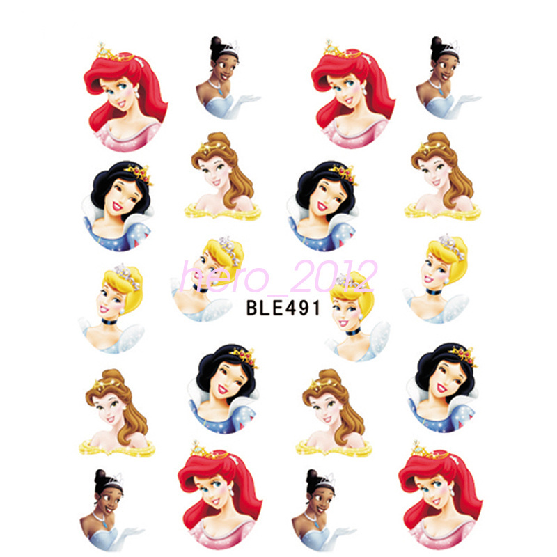 11 Sheets Disney Decals Princess Mickey Mouse Nail Art