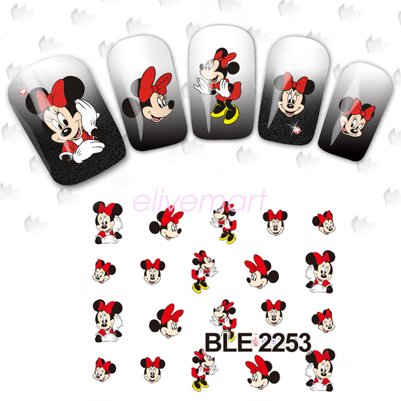 Mickey Mouse DIY Nail Art Sticker Water Transfer Decals Decoration ...