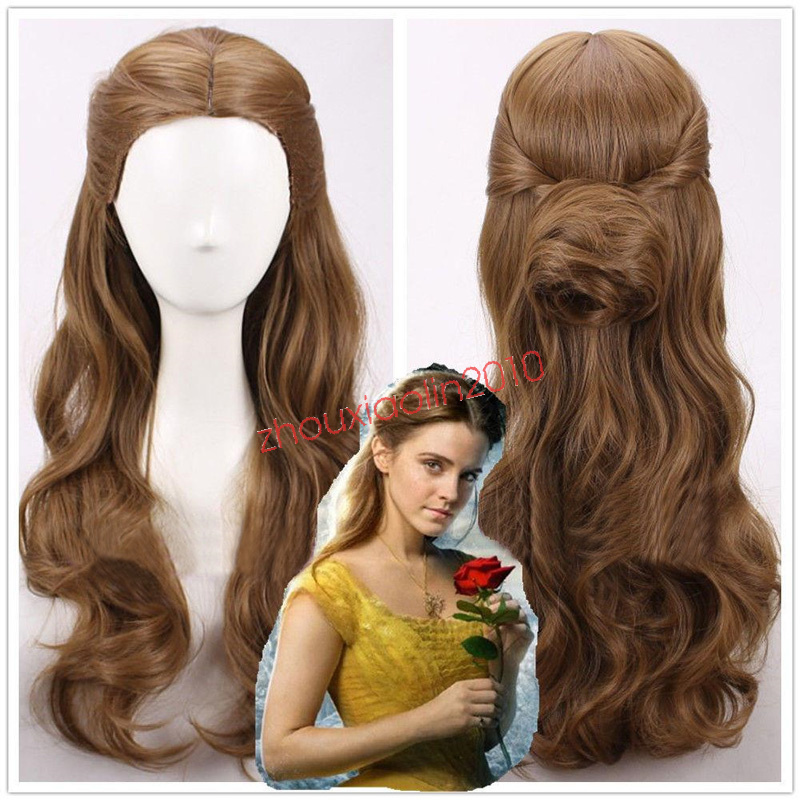 How To Create Belles Hairstyle From Beauty And The Beast : 2017 movie beauty and the beast princess belle long wavy brown