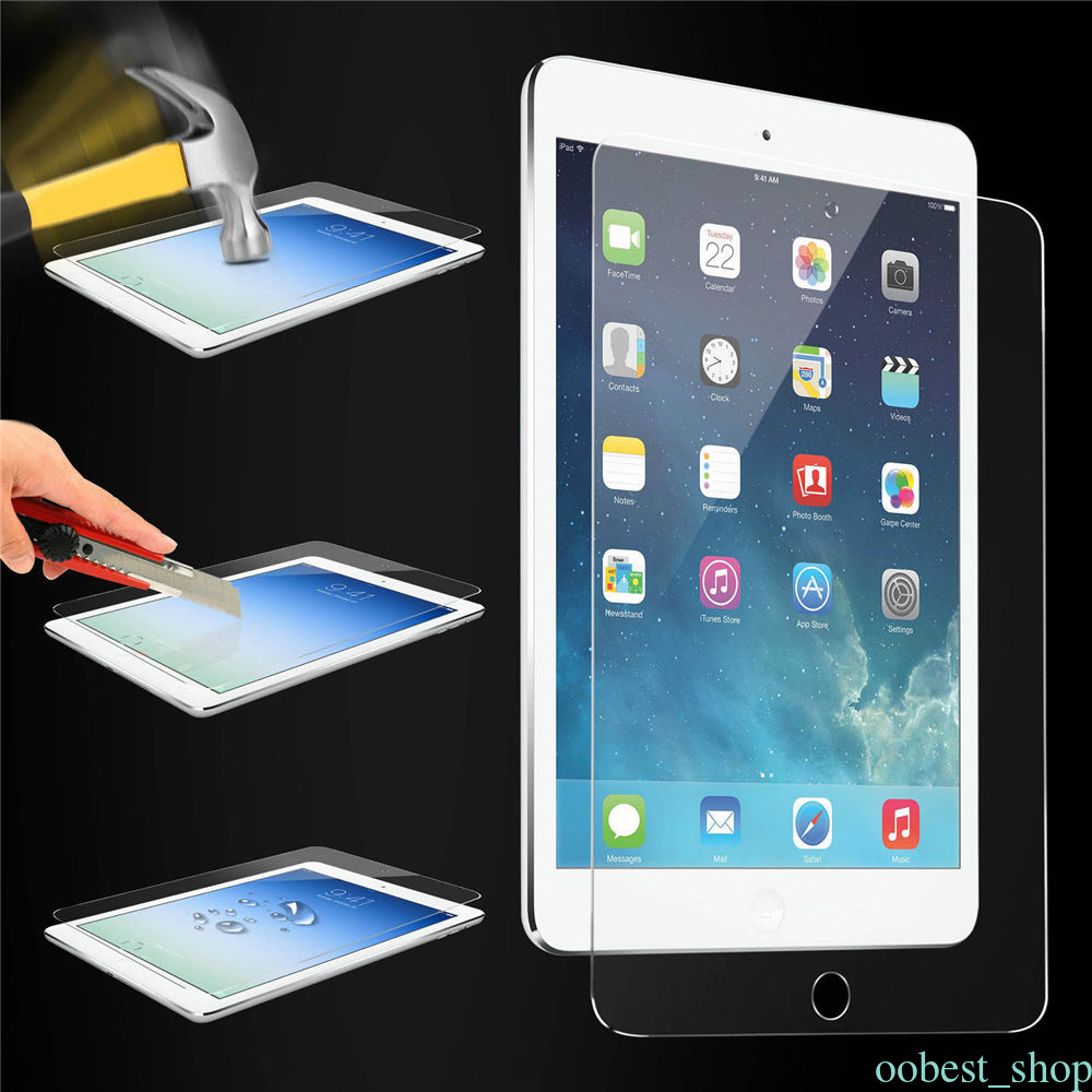 tempered glass screen protector film protection hd cover for apple ipad 4 mini 4 ebay. Black Bedroom Furniture Sets. Home Design Ideas