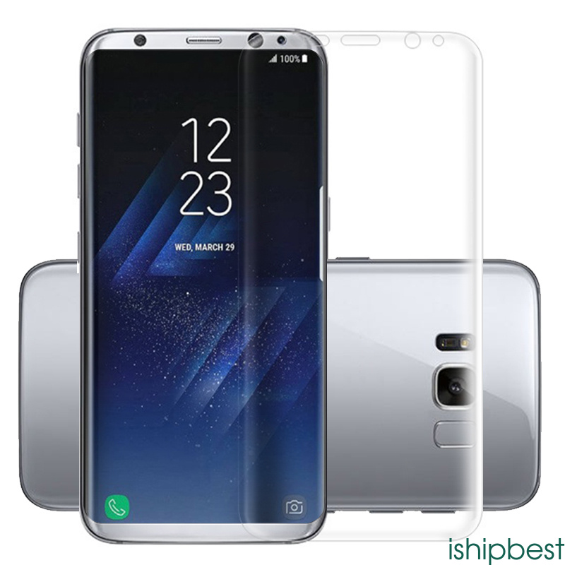 3d curved cover pet screen protector for samsung galaxy s7 s8 edge plus mobile ebay. Black Bedroom Furniture Sets. Home Design Ideas