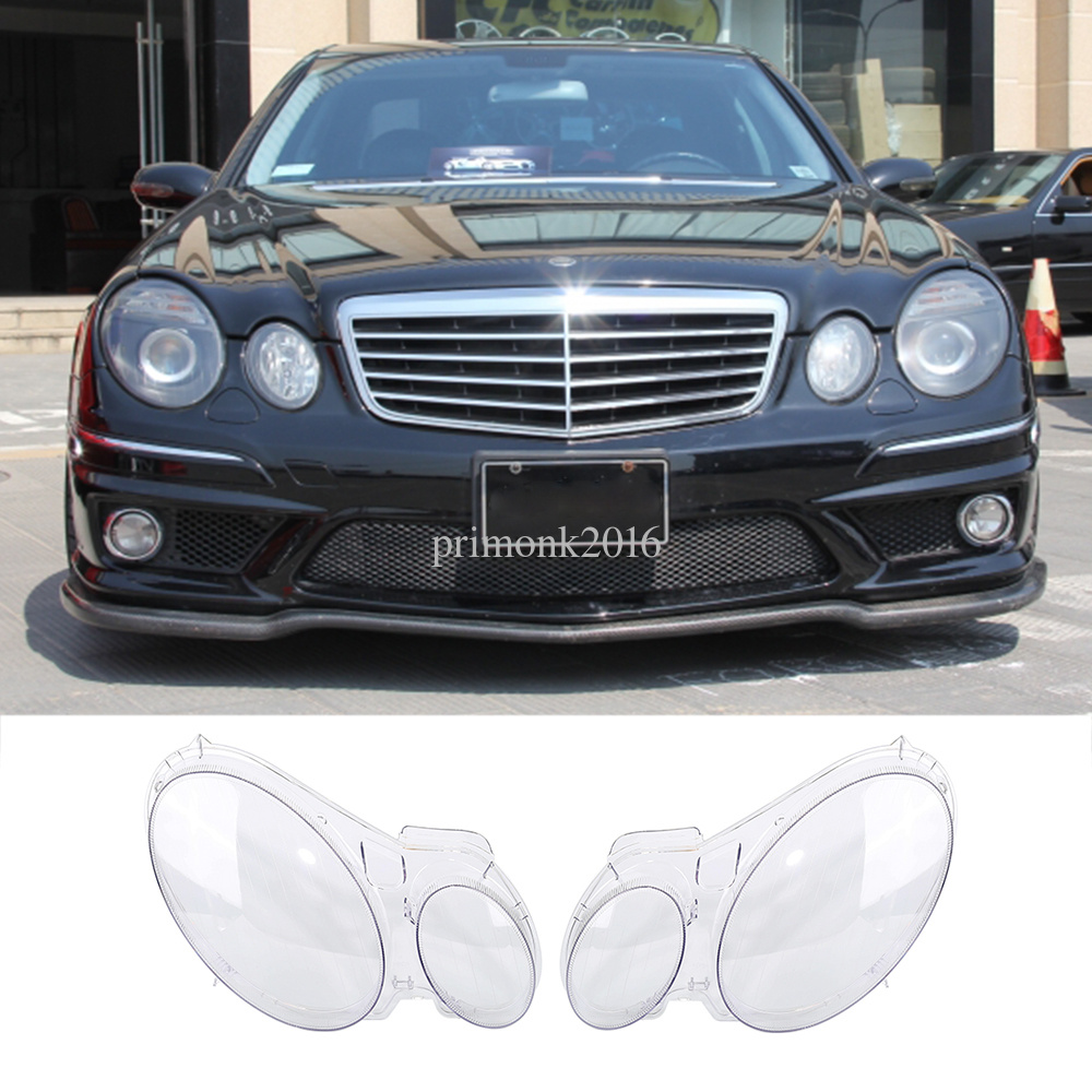 car replacement headlight lens cover for benz w211 e240. Black Bedroom Furniture Sets. Home Design Ideas