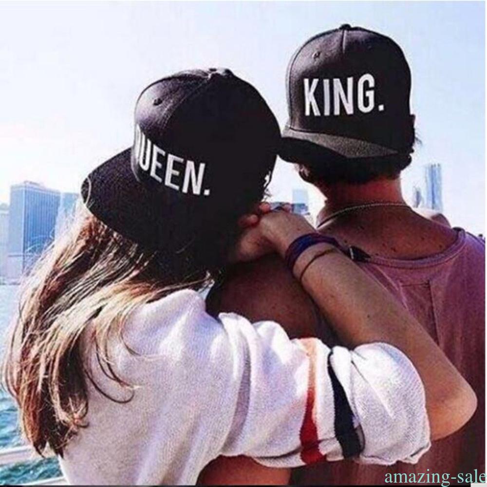 reputazione affidabile cerca l'originale boutique outlet Details about KING e QUEEN Cappelli ricamati ricamati di cappello di  Snapback COUPLE HATS AL11