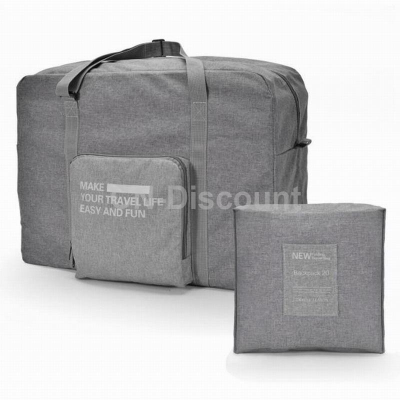 Travel-Big-Size-Foldable-Luggage-Bag-Clothes-Storage-Carry-On-Nylon-Zipper-Bag