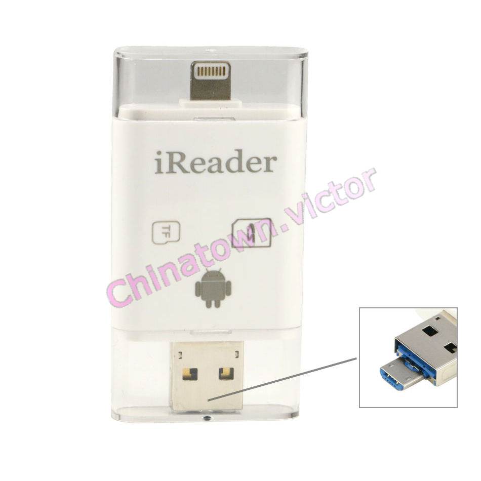 card reader for iphone usb tf sdhc flash drive card reader for iphone x 7 6s 6 3997