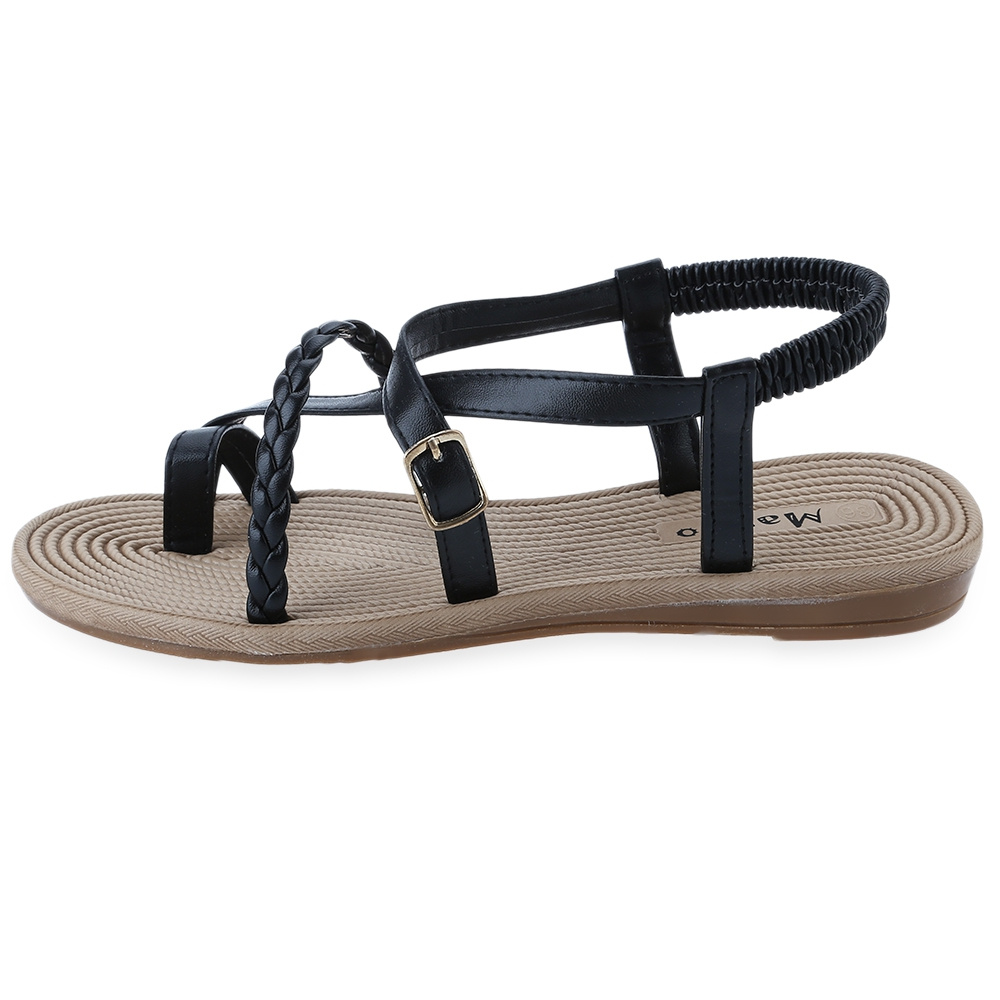 Summer Women Ankle Strap Sandals Gladiator Thongs Flip Flops Flats Strappy Shoes  Ebay-6836