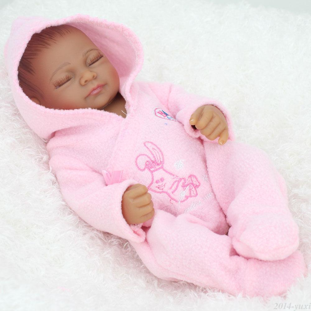 "Sleeping African American Baby Dolls 10"" Handmade Real ..."
