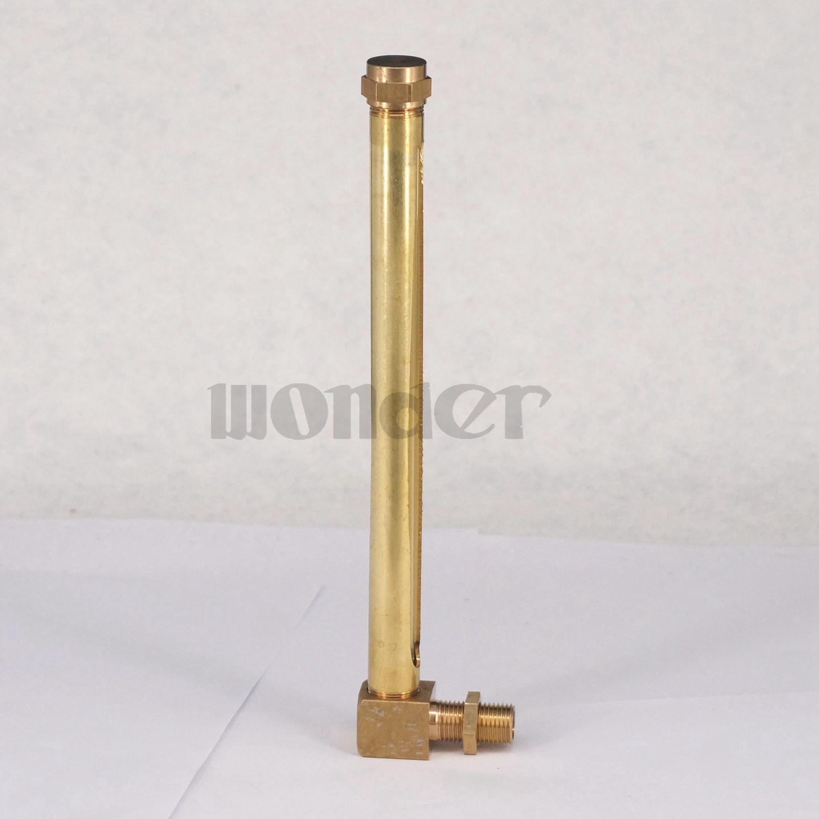 Quot bsp mm lube devices elbow brass oil level gauge