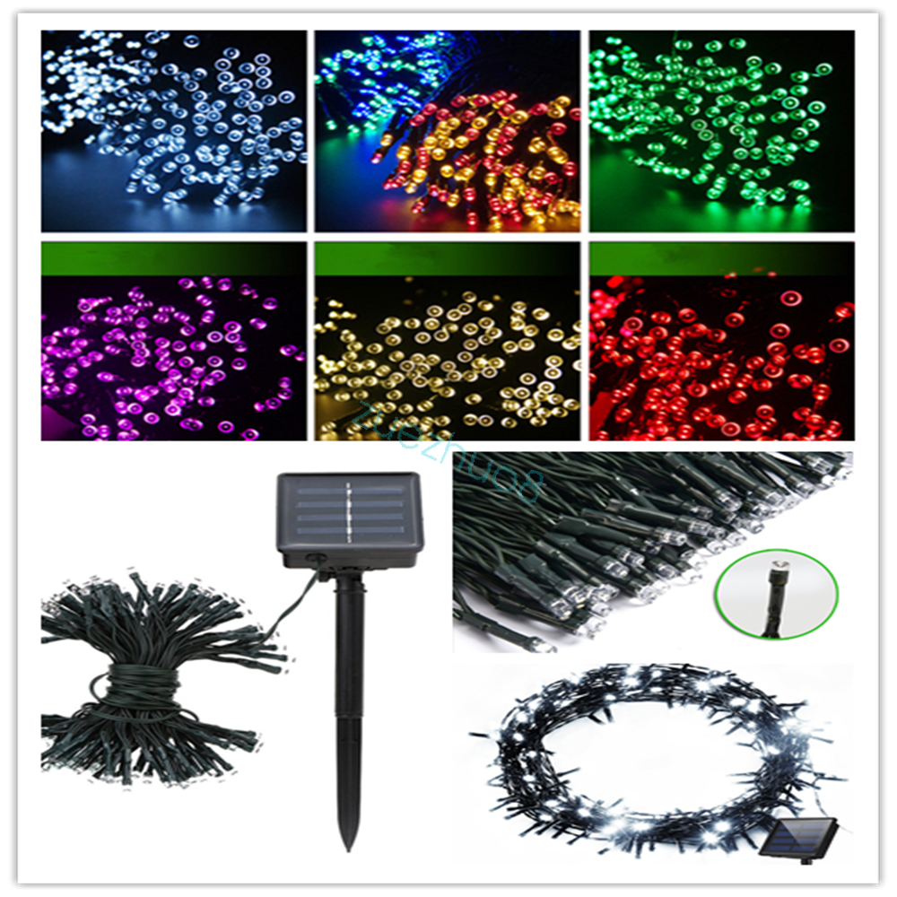 Outdoor Solar Fairy Lights Uk: LED Solar Power Fairy Lights String Garden XMAS Outdoor
