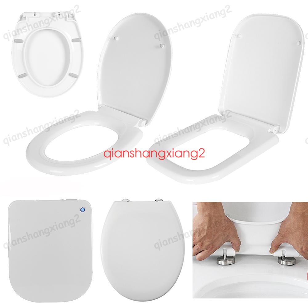toilettendeckel wc sitz klodeckel mit absenkautomatik toilettenbrille wei ebay. Black Bedroom Furniture Sets. Home Design Ideas