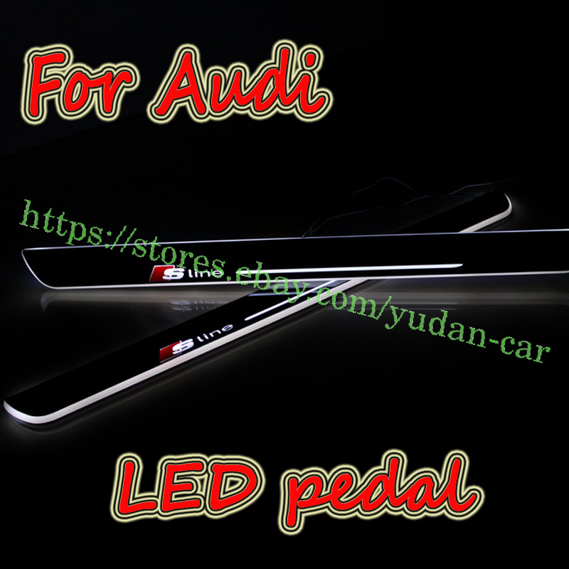 S-line LED Door Moving Welcome Pedal Light For Audi A1 A3