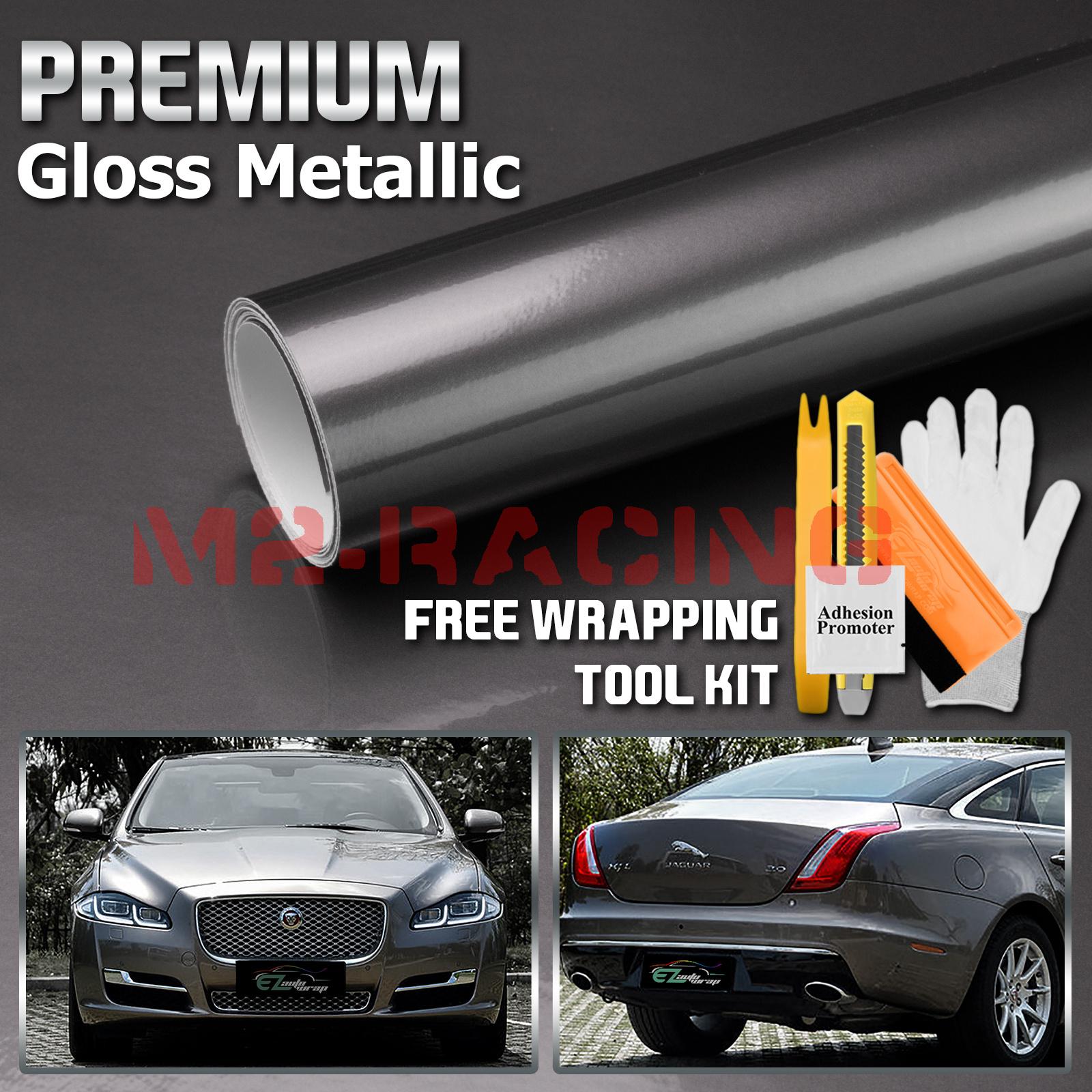 *Premium Silver High Gloss Metallic Glossy Sticker Decal Vinyl Wrap Air Release